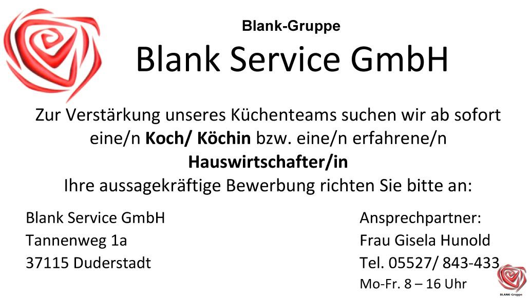 BLANK-Gruppe - Kategorie: Stellenangebote
